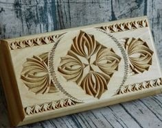 Carved Wooden Jewelry Box Rustic Luxury Living Room Home Decor