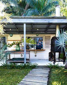 Relaxing beach house porch