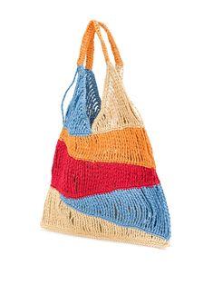 Creative Bag, Macrame Bag, Balaclava, Big Bags, Knitted Bags, Crochet Designs, Handmade Bags, Crochet Projects, Purses And Bags