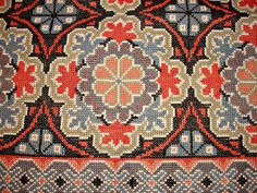 TEXNIS STORIES: κέντημα Embroidery Art, Cross Stitch Embroidery, Embroidery Patterns, Cross Stitch Rose, Cross Stitch Flowers, Cross Stitch Designs, Cross Stitch Patterns, Needlepoint Designs, Patterned Carpet