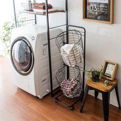 エア・リゾーム インテリア / ワイヤーランドリーバスケット 洗濯かご タテ型2段式ランドリーバスケット Twee〔ツウィー〕 ホワイト ブラック ※こちらの商品は3月下旬〜4月上旬入荷分のご予約受け付けとなっております。 House Design, Room Design, Laundry Mud Room, Interior, Kitchen And Bath, Small Bathroom, Home Deco, Room Closet, Living Room Designs