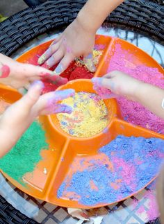A simple process art activity that also yields a beautiful product to brighten up your windows; these powder paint suncatchers are perfect for active toddlers and make a great play date activity. Date Activities, Eyfs Activities, Toddler Activities, Toddler Class, Toddler Art, Toddler Stuff, Powder Paint, Process Art, Preschool Art