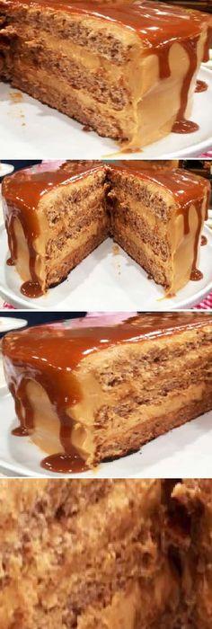 Esta Torta de dulce de leche y nuez cubierta con dulce de leche arraso en todo el mundo, que Dulzura y Perfecta! #dulcedeleche #tortadedulcedeleche #food #foodie #foodporn #dessert #dessertporn #postre #sweet #yummy #chef #baking #yummy #delicious #pan #panfrances #panettone #panes #pantone #pan #receta #recipe #casero #torta #tartas #pastel #nestlecocina #bizcocho #bizcochuelo #tasty #cocina #chocolate Si te gusta dinos HOLA y dale a Me Gusta MIREN …