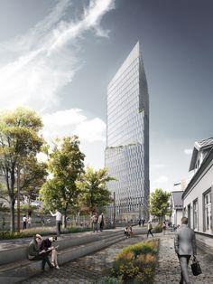 Hochhaus mit Kirche - Schmidt Hammer Lassen gewinnen in Stavanger