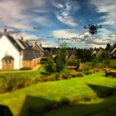 Our aerial camera gathers more spectacular images Aerial Camera, Scotland, Golf Courses, Sunshine, Film, Image, Movie, Film Stock, Nikko