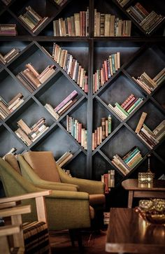 Bookcases are always beautiful, because they're full of books