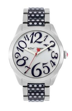 Betsey Johnson Watch. I would totally wear this if the incessant ticking of analog watches didn't drive me crazy :)