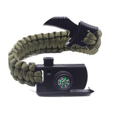 Best Outdoor Paracord Survival Bracelet 500 LB - Hiking Gear Travelling Camping Gear Kit - Parachute Rope Bracelet - Compass,Flint Stone,Fire Sticks, Knife, Whistle By RNS STAR Survival Gadgets, Survival Tools, Survival Knife, Survival Prepping, Survival Weapons, Survival Shelter, Edc Tools, Camping Equipment, Camping Gear