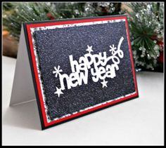 HAPPY NEW YEAR greeting card / New Year's Eve by MoreFriendsAndCo, $4.75
