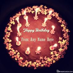 Happy Birthday Wishes Candles Cake With Name