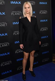 Ultra modern and beyond: Jennifer Lawrence donned a unique black scuba dress for the Tribeca Film Festival premiere of the documentary A Beautiful Planet in NYC on Saturday