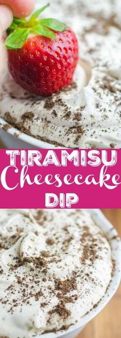 If you are looking for a quick and easy dessert this Tiramisu Cheesecake Dip is it. It's a creamy dreamy downright decadent dessert dip for graham crackers and fresh fruit. Mini Desserts, Party Desserts, Delicious Desserts, Potluck Desserts, Fruit Appetizers, Appetizers For Party, Crackers Appetizers, Dessert Dips, Dessert Recipes