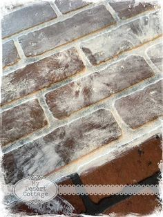 **My Desert Cottage**: Faux Brick Wall Tutorial – Best DIY images in 2019 Faux Brick Wall Panels, Brick Wall Paneling, Brick Flooring, Brick Walls, Paneling Painted, Paneling Ideas, Faux Walls, Fake Brick, Exposed Brick