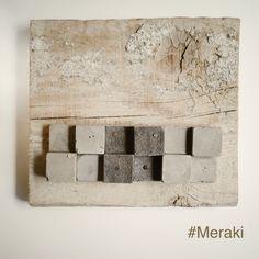 My Meraki   pixel II     Cemento, scarti di pelle, legno da cassero.