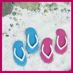 Miniature Dollhouse Fairy Garden Flip Flops / Sandals SET OF 2 Figurine