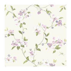 York Wallcoverings Blooms AK7429 Floral Vines Wallpaper, Pink