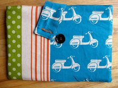 Make your own laptop sleeve. Maybe add some squishiness between the two layers to make it a bit padded?