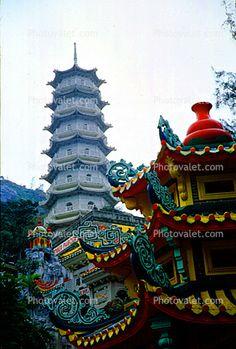 PHOTOS OF TIGER BAUM GARDENS | Pagoda, Tiger Balm Gardens, 1968, 1960's Images, Photography, Stock ...
