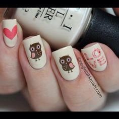 25 cute owl nail artdesigns for your nails. Owl Nail Art, Owl Nails, Minion Nails, Funky Nail Art, Funky Nails, Cute Nail Art, Cute Nails, Pretty Nails, Cute Nail Designs