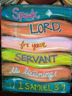 1 Samuel 3:9 Scripture Painting
