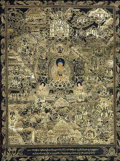 the_black_thangka_of_shakyamuni_buddha_with_scenes_tk53.jpg 483×650 pixels