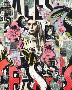 'Faile Mary Torn' work on canvas from 2007. #faile #faileart #tbt #painting by faileart