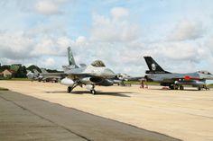 Belgian Composante Air Unités 2 Wing Tactique.Air Force Base Florennes.General Dynamics F-16 Fighting Falcons.