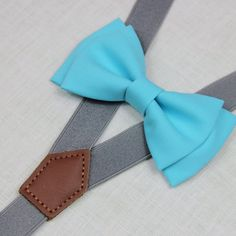 Blue bowtiesBOWTIE SUSPENDER SETgray/mid grey by ziziplace
