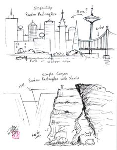 Draw Simple Cities and Canyon by ~Diana-Huang on deviantART
