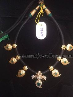 Jewellery Designs: 33 Grams Black Beads Set