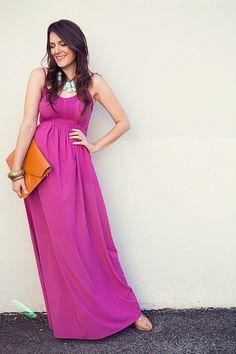 Magenta and Turquoise! Magenta, Purple Maxi, Fuchsia Dress, Passion For Fashion, Love Fashion, Spring Summer Fashion, Summer Maxi, Summer Wear, Summer Outfit