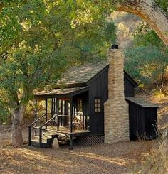 Small Cottage House Plans, Cottage Homes, Cottage Ideas, Cabin In The Woods, Cottage In The Woods, Cottage Design, House Design, Little Cabin, Cabins And Cottages
