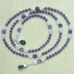 Amethyst & Milky White Eyeglass/Sunglass Chain Holder