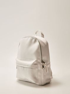 Рюкзак с карманом - белый - SO196-00X - House - 0