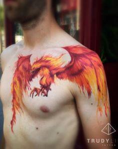 Rise Like A Phoenix Corina Weikl Aka Trudy Traveling Tattoo...
