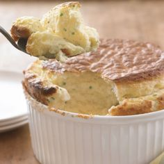 Cheese Soufflé with Fresh Chives
