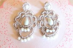Tasty Bijoux: Orecchini baroque Baroque crochet earrings