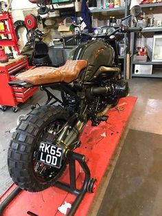 Check this out! I fully adore what these folks designed on this unique Bobber Motorcycle, Motorcycle Garage, Bmw Motorcycles, Custom Motorcycles, Custom Bikes, Moto Cafe, Cafe Racer Bikes, Cafe Racer Build, Bmw Scrambler