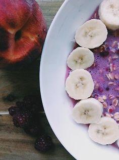 Healthy breakfast - the fruity works.
