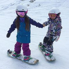 Sisters #shredding!! Here's to those last days of #snow.  by: @christelle_rm  #snowday #catalystcase #jointheadventure #iphoneography #iphone #mountains #outdoors #shred #snowboarding #fun #snowboarder #snowboard #children #childhoodmemories #childhood #outdoorphotography #girlswhoshred #girl #girlsjustwannahavefun #sisters