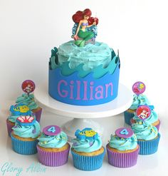 The Little Mermaid cupcakes, I like the colors on this one. && that is what I want to name my daughter!!