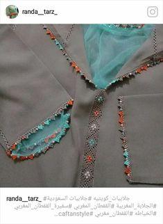 Jellaba Kaftan Moroccan, High Collar Blouse, Islamic Fashion, Abaya Fashion, Indian Designer Wear, Fashion Studio, Traditional Dresses, Knitting Patterns, Embroidery Designs