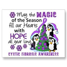 Christmas Penguins Cystic Fibrosis Postcard