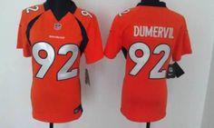 e814f0593 Women s Nike NFL Denver Broncos  92 Elvis Dumervil Orange Elite Jerseys Nfl Denver  Broncos