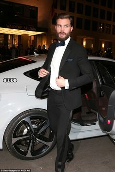 Bit of all-white: While Jamie was seen arriving in a white version of the car