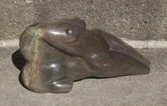Lean On Me, front, amogis brown serpentine, Lean On Me, Stone Sculpture, Sculptures, Brown, Stone Carving, Brown Colors, Sculpture