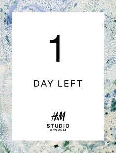 One day left until the #HMStudioAW14 collection is revealed! Don't miss the live stream of the fashion show tomorrow on http://hmstudio.hm.com.