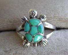 Torquoise Turtle ring