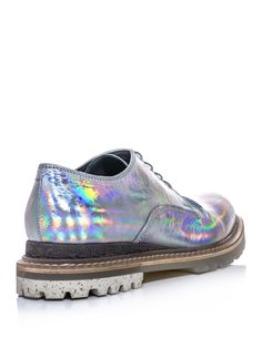 Lanvin hologram leather derby shoes