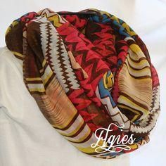 Chevron Stripe Multicolor Aztec Stripe Tribal Novelty by elgies